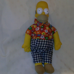 The Simpsons 1998 Vivid Imaginations Large plush Homer Simpson Hawaii top @sold@